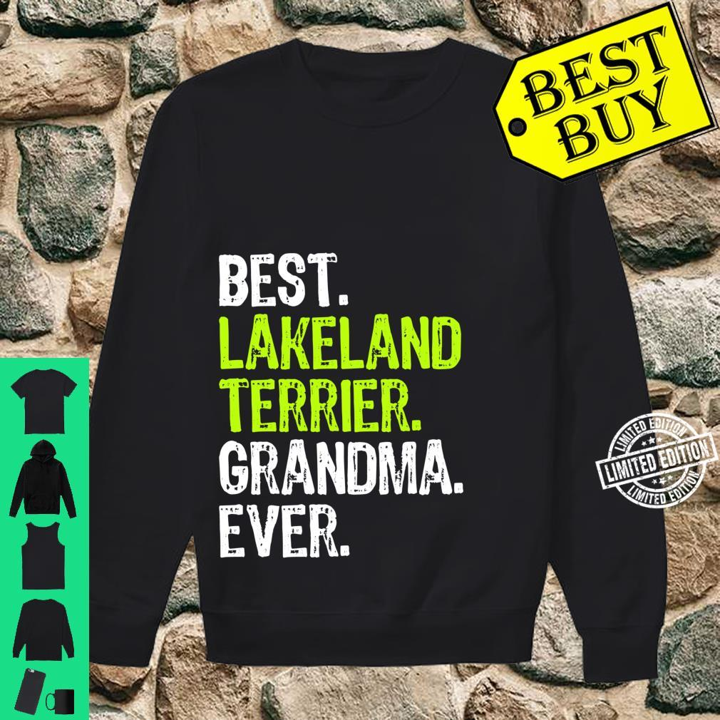 Best Lakeland Terrier Grandma Ever Dog Shirt sweater