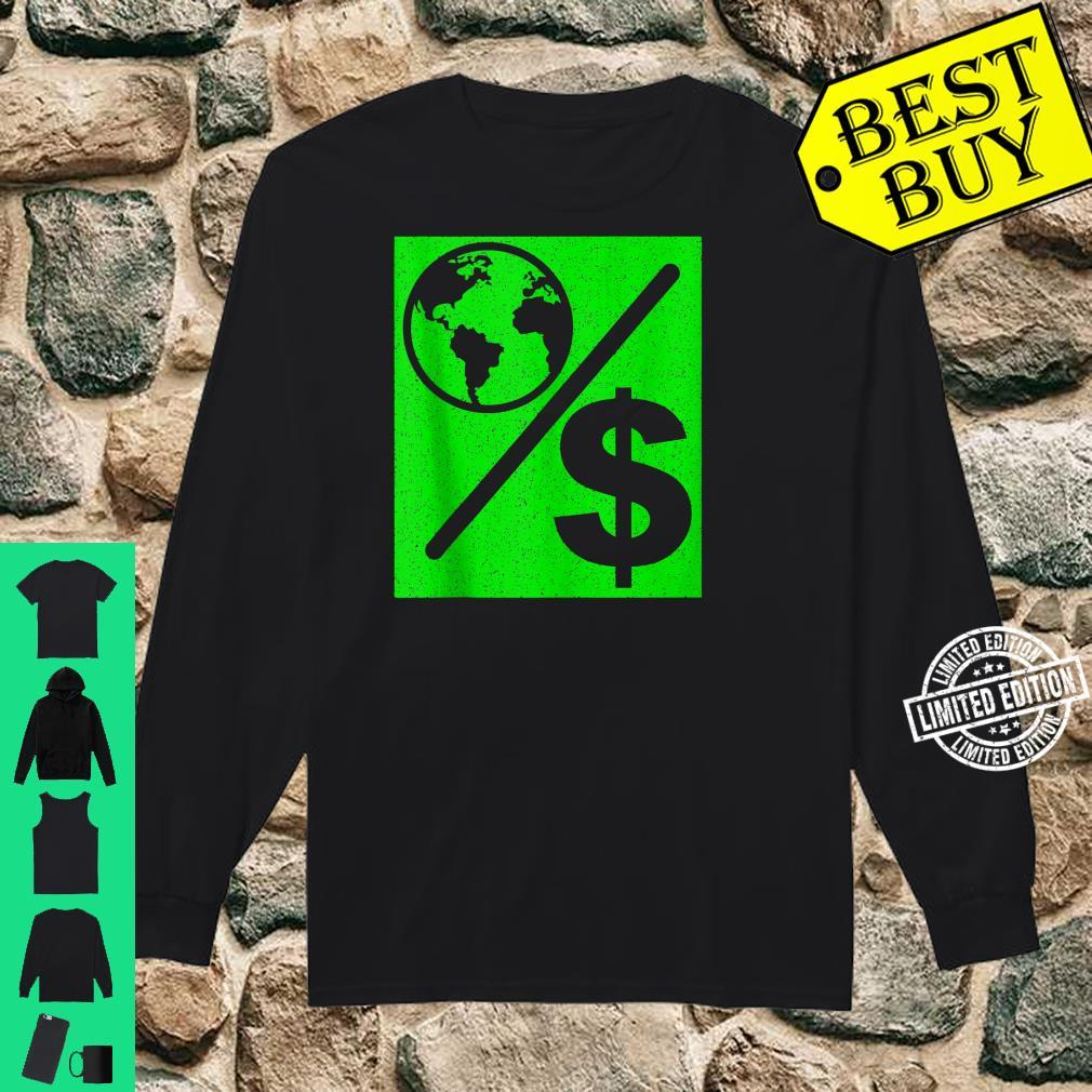 Happy Earth Day 51th Anniversary Planet Over Profit Teacher Shirt long sleeved