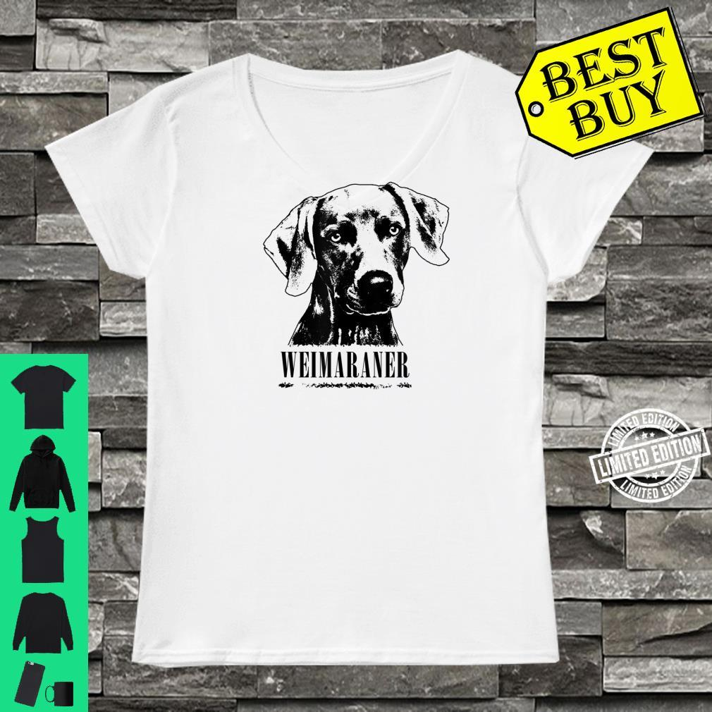 Weimaraner Protruding Dog Shirt ladies tee