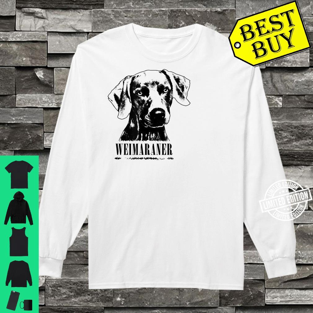 Weimaraner Protruding Dog Shirt long sleeved