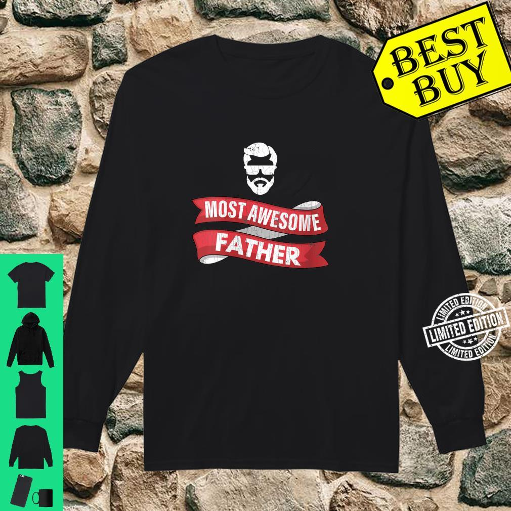 Womens Dad Most Awesome Father Shirt long sleeved